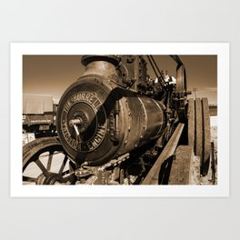 The Burrell Engine Art Print