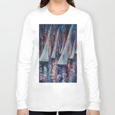 Sailboats (Palette Knife) Long Sleeve T-shirt