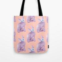 sphynx Tote Bags featuring sphynx by terastar
