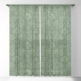 damask pattern victorian vintage Sheer Curtain