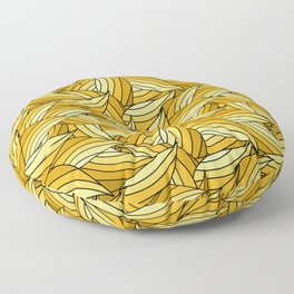 PRIMROSE YELLOW LEAVES B (abstract flowers nature) Floor Pillow