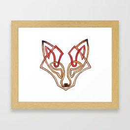 Celtic fox - celtic knot Framed Art Print