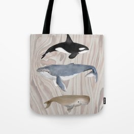 whales and wood Tote Bag