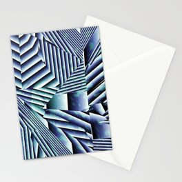 Linear Chaos Abstract Pattern Stationery Cards