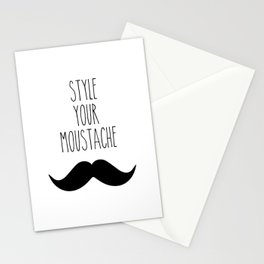 Style your moustace - 2 Stationery Cards