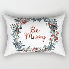 Be Merry! Berries Wreath Rectangular Pillow