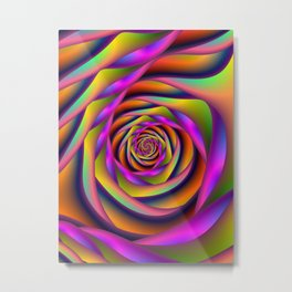 Spiral Six Metal Print
