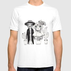 Day of the Dead MEDIUM White Mens Fitted Tee