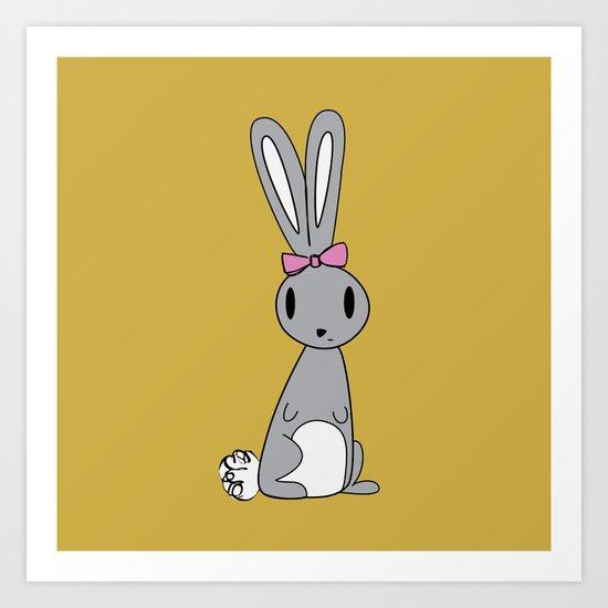 Jelly the Bunny Art Print