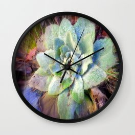 Mullein with ice Wall Clock