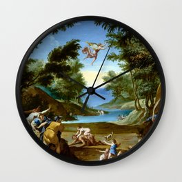 Federico Zuccaro Cupid and Pan Wall Clock