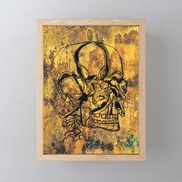 Crushed Skull Drawing Framed Mini Art Print