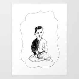 Portrait of a Victorian Baby Art Print