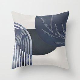 Blue Moon Splotchy Arch Throw Pillow