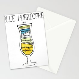 Blue Hurricane Bar Art Stationery Cards