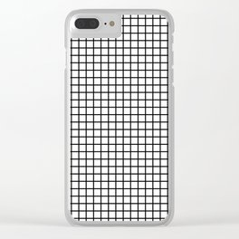 Grid_Black & White_Minimalist Art Clear iPhone Case