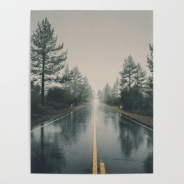 Hiking road explore Poster