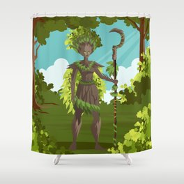 dryad nature tree forest guardian Shower Curtain