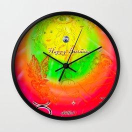 Zodiac sign Gemini - Happy Birthday 3 Wall Clock