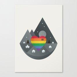 Love & Equality Canvas Print