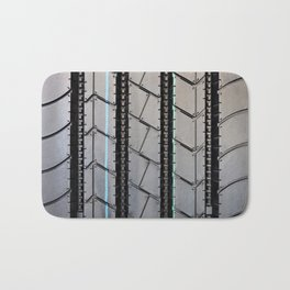 Tread pattern truck tire Bath Mat