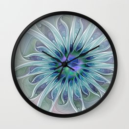 Floral Beauty, Fantasy Flower Wall Clock