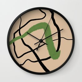 Colored Line 04 Wall Clock
