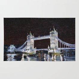 Tower Bridge. 2006. Canvas on cardboard, oil. 35 x 40 cm. Rug