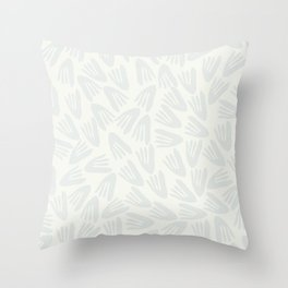 Snow Tracks Modern Cutout Papier Découpé Pattern in Off-White and Pale Gray Throw Pillow