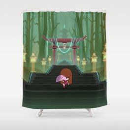Stairway To The Temple Shower Curtain