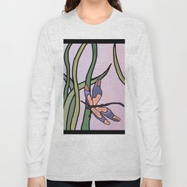 dragonflies in  a pastel color background Long Sleeve T-shirt