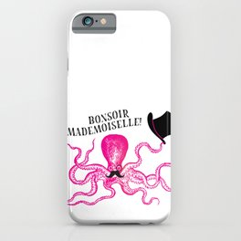 A very polite french pink octopus iPhone Case