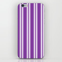 Purple and White Stripes iPhone Skin