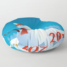 Join the spirit of Happiness Floor Pillow