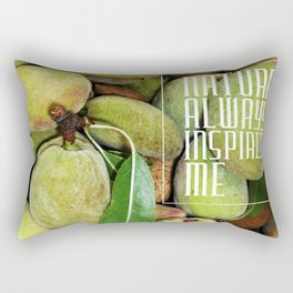 Green almonds (Nature always inspires me) Rectangular Pillow