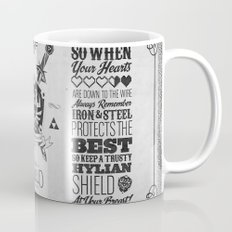 Legend of Zelda Hylian Shield Foundry logo Iconic Geek Line Artly Mug