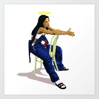 aaliyah Art Prints featuring Aaliyah by MikeHanz