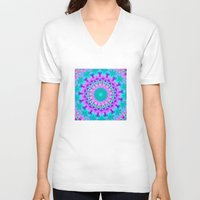 kaleidoscope V-neck T-shirts featuring Kaleidoscope by Sylvia Cook Photography
