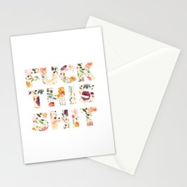 Flowery Language: Fuck This Shit Stationery Cards