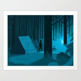 The Silver Doe Art Print