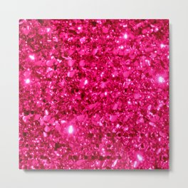 SparklE Hot Pink Metal Print