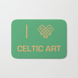I heart Celtic Art Bath Mat