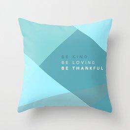 Teal Geometric Artwork Throw Pillow