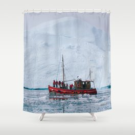 Iceberg 07 - Greenland Shower Curtain