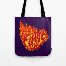 Down in Flames Tote Bag