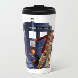 4th Doctor, Sarah Jane, K-9 and the TARDIS Metal Travel Mug