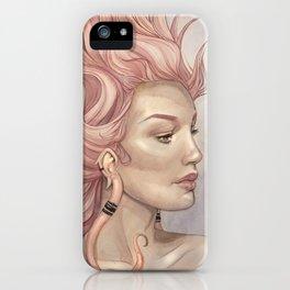 Dragon Lady Watercolor Portrait iPhone Case