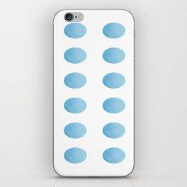 Sky Blue Watercolour Polka Dots iPhone Skin