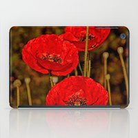 poppies iPad Cases featuring Poppies by Pirmin Nohr