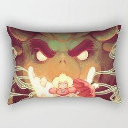 Bowser & Peach Rectangular Pillow